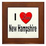 I Love New Hampshire Framed Tile