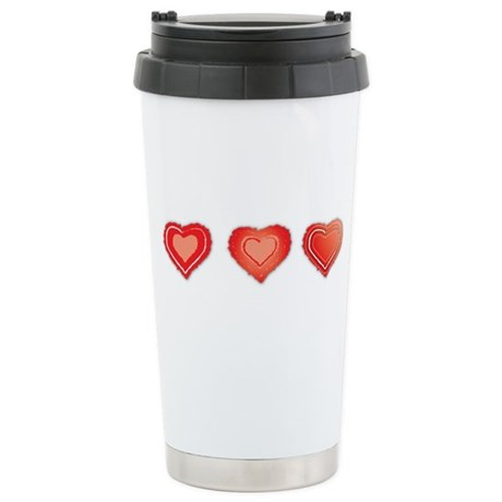 Hat Trick Hearts Stainless Steel Travel Mug