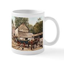 Farmyard Scene USA 1900 Mug