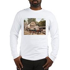 Farmyard Scene USA 1900 Long Sleeve T-Shirt