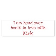 In Love with Kirk Bumper Car Sticker
