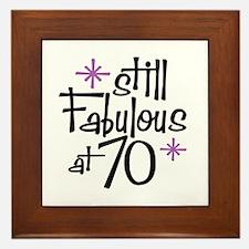 Still Fabulous at 70 Framed Tile