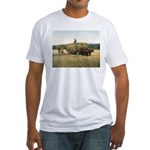 Haying in New England Fitted T-Shirt