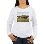 Haying in New England Women's Long Sleeve T-Shirt