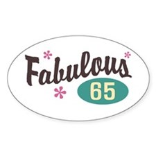 Fabulous 65 Oval Decal