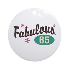 Fabulous 65 Ornament (Round)