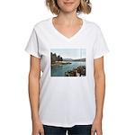 Sagamore Dock New York Women's V-Neck T-Shirt