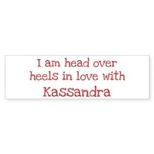 In Love with Kassandra Bumper Car Sticker