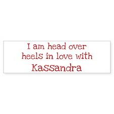 In Love with Kassandra Bumper Car Sticker