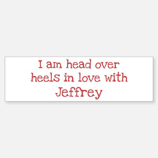 In Love with Jeffrey Bumper Car Car Sticker