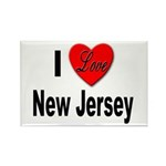 I Love New Jersey Rectangle Magnet (10 pack)