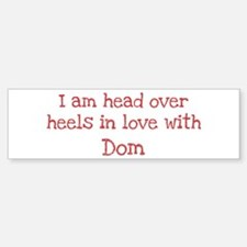 In Love with Dom Bumper Car Car Sticker