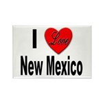 I Love New Mexico Rectangle Magnet (10 pack)