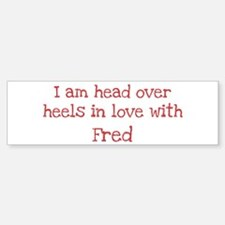 In Love with Fred Bumper Car Car Sticker