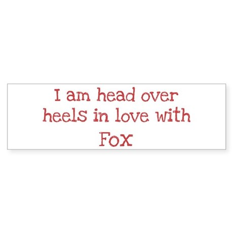 In Love with Fox Bumper Sticker (10 pk)