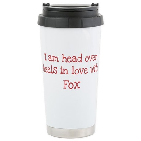 In Love with Fox Stainless Steel Travel Mug