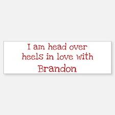 In Love with Brandon Bumper Car Car Sticker