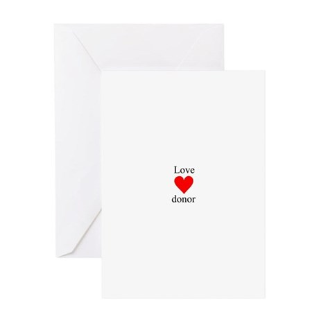 love.donor.heart Greeting Cards