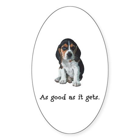 Good Beagle Oval Sticker
