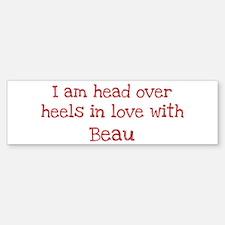 In Love with Beau Bumper Car Car Sticker