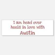 In Love with Austin Bumper Car Car Sticker