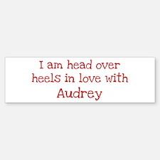 In Love with Audrey Bumper Car Car Sticker
