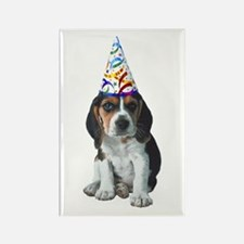 Beagle Party Rectangle Magnet