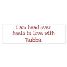 In Love with Bubba Bumper Car Sticker