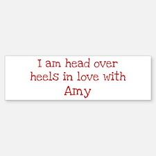In Love with Amy Bumper Car Car Sticker
