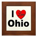 I Love Ohio Framed Tile