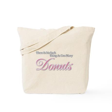 Donut Saying Tote Bag