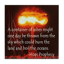 Hopi Prophecy - Container of  Tile Coaster