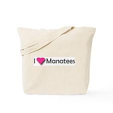 I LUV MANATEES Tote Bag