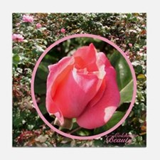 """English Rose """"Colchester Beauty"""" Tile"""
