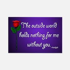 Outside World Twilight Rectangle Magnet