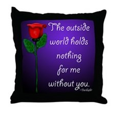 Outside World Twilight Throw Pillow