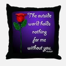 Outside World Twilight Throw Pillow