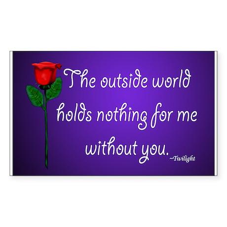 Outside World Twilight Rectangle Sticker 50 pk)