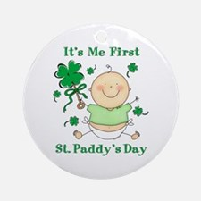 Me 1st St. Paddy's Day Ornament (Round)