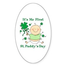 Me 1st St. Paddy's Day Oval Decal