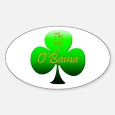 Luck of O'Bama Oval Decal