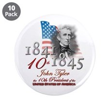 """10th President - 3.5"""" Button (10 pack)"""