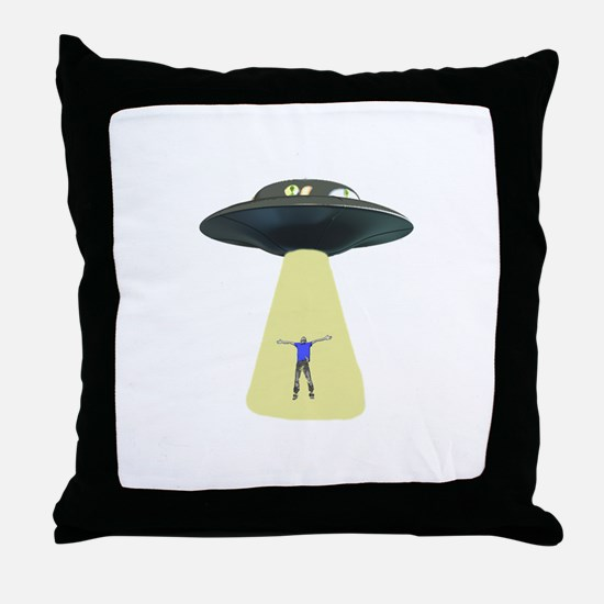UFO Out of this world Throw Pillow