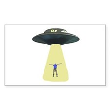 UFO Out of this world Rectangle Decal