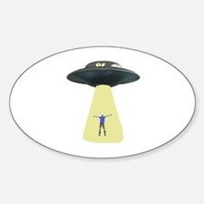 UFO Out of this world Oval Decal