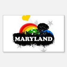 Sweet Fruity Maryland Rectangle Decal