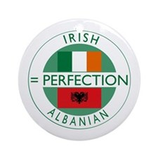 Irish Albanian heritage flag Ornament (Round)