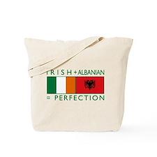 Irish Albanian heritage flag Tote Bag