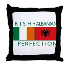 Irish Albanian heritage flag Throw Pillow