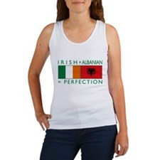 Irish Albanian heritage flag Women's Tank Top